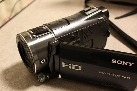HDR-CX550Vを自宅にて